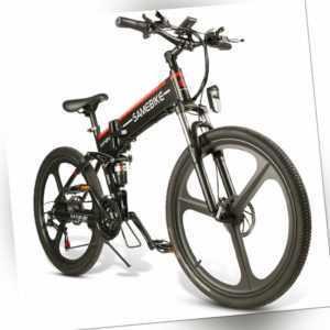 26 Zoll Mountainbike eBike 48V 500W Motor 25km/h Faltbares Elektrofahrrad Roller