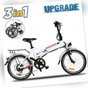 "20"" Elektrofahrrad Klapprad E-Bike Mountainbike Pedelec Faltbar Li-Akku Fahrrad"