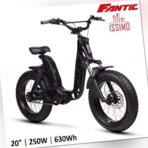 """E-BIKE BICI ELETTRICA 20"""" FAT FANTIC ISSIMO FUN NERO 250W, 630WH"""