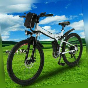 Elektrofahrrad Klapprad 26 Zoll 36V E-Bike Pedelec 250W Motor Citybike AKKU DHL