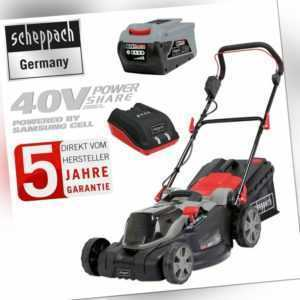 Scheppach 40V Akku Rasenmäher MP43-40Li Akkumäher 43cm + 2,5 AH Akku & Ladegerät