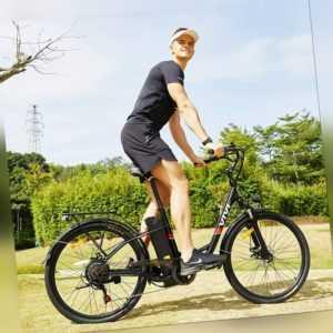 """Citybike Damen Elektrofahrrad EBIKE 26"""" Pedelec Trekkingrad 350W Motor 7-Gang EU"""