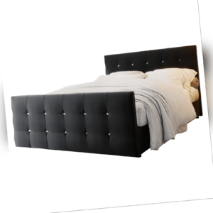 Boxspringbett Hotellbett KLEO 140/160/180 x 200 Braun Grau Bettkasten