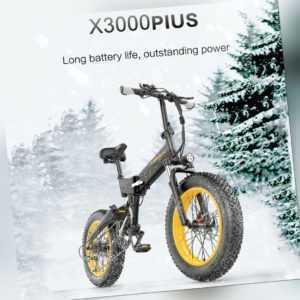 Lankeleisi Elektrofahrrad 20 Zoll Faltrad E-Bike Tire Bicycle 48V 46km/h 1000W