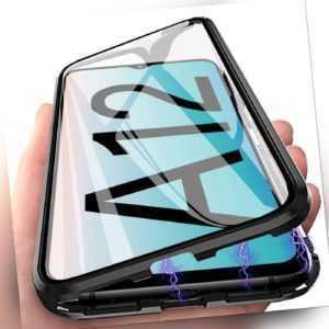 Hülle Magnet für Samsung Galaxy A12 M12 Schutzhülle Glas Cover Handy Armor Case