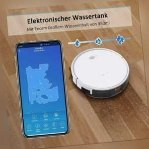 Tesvor X500 Pro Staubsauger Roboter Saugroboter Mit Wischfunktion APP WLAN Alexa