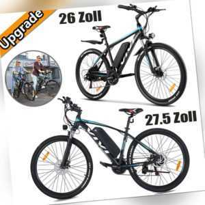 E-Bike Mountainbike 26/27,5 Zoll Elektrofahrrad 350W 10,4Ah EFahrrad Citybike EU