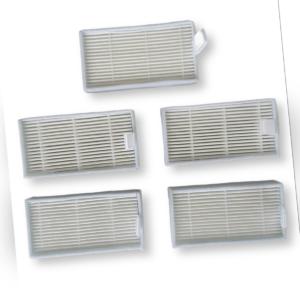 5 Filter für ILIFE & ZACO V1 V3S V5 V5S V5SPRO X5 | Medion MD | Ariete