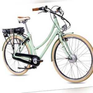 28 Zoll E-Bike Citybike Damenrad CHRISSON EH1 Pedelec 7G SHIMANO Mintgrün