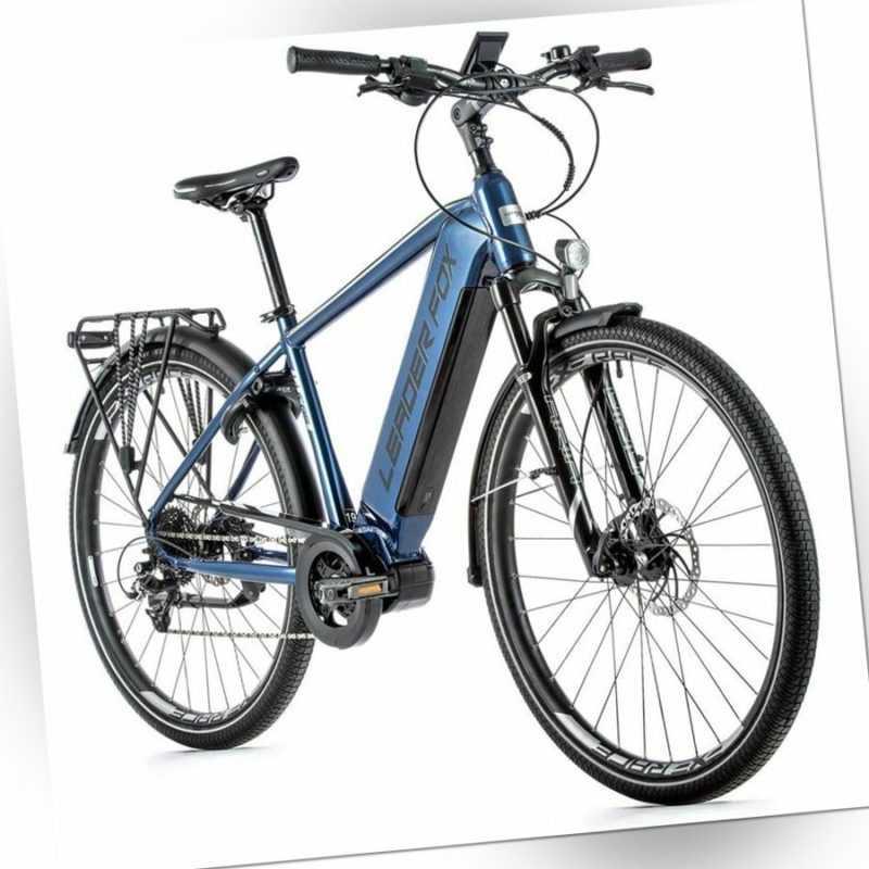 28 Zoll Trekking E Bike Leader Fox LUCAS Pedelec Elektro Fahrrad 720Wh BLUE
