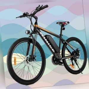 Elektrofahrrad Mountainbike E-bike 26 Zoll Ebike 350W Shimano Pedelec 21-Gänge A