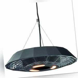 Enders Elektroheizstrahler Marbella 2000W schwarz mit LED Beleuchtung