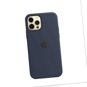 Apple iPhone 12/Pro Original MagSafe Silicone Case Dark Navy MHL43ZM/A *Neu* OVP