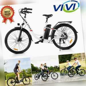 E-Bike Elektrofahrrad Mountainbike 26/27,5 Zoll Klapprad EBIKE mit 350W Motor DE