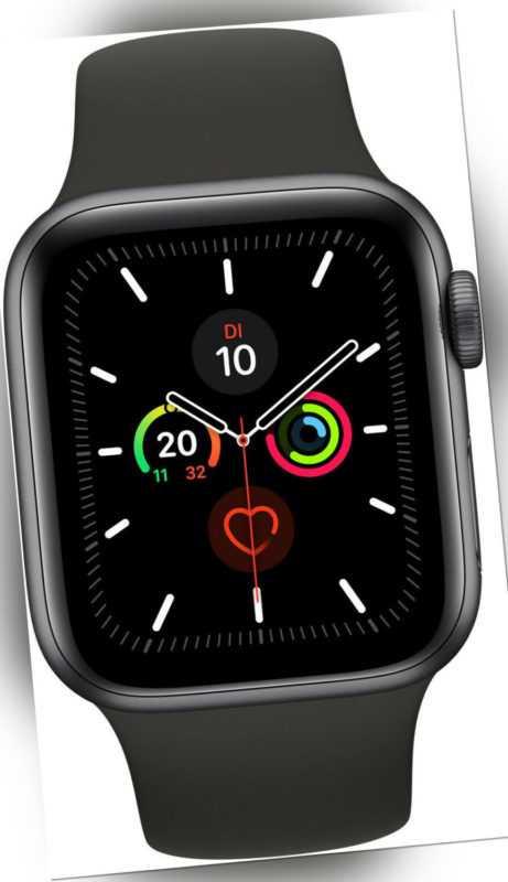 Apple Watch Series 6 GPS+LTE 44mm Space Gray Alu Schwarzes Sportarmband A2376