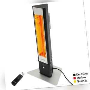 VASNER HeatTower Mini Infrarot Heizstrahler Terrasse Standheizstrahler Schwarz