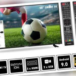 "Fernseher 4K LED Smart TV 50"" 55"" 60"" 65"" 75"" Zoll UltraHD DVB-T2/S2 Elements"