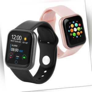 Smartwatch Bluetooth Fitness Uhr Watch Tracker Herren IP67 mit Schrittzähler