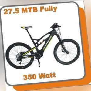 MTB Mountainbike Carbon Fully E-bike Raptor 350W Mittelmotor 48V 13,6ah Akku