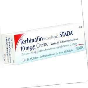 TERBINAFIN HYDROCHLOR.STADA 10mg/g Creme   15 g   PZN2904935