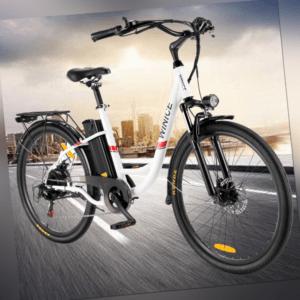 """Elektrofahrrad E-Bike 26"""" Damen/Mann City E-fahrrad 350W Motor Shimano Pedele DE"""