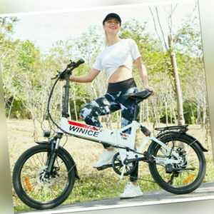 E-BIKE Elektrofahrrad Mountainbike Faltrad 250W 36V E-MTB Fahrrad 20 Zoll 7 S 03