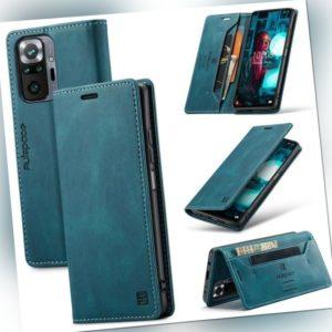 Handy Hülle für Xiaomi 10T PRO/ Redmi Note 10 4G/ 10 Pro Magnet Leder Flip Cover