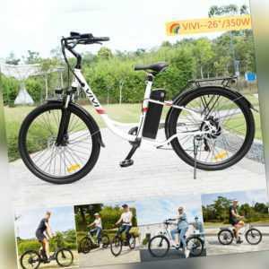 """350W Elektrofahrrad 26"""" E-bike E Mountain bike Klapprad Pedelec E City bike DE02"""