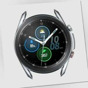 Samsung Galaxy Watch 3 LTE 45mm SM-R845 Smartwatch Silber Ridge SportBand Grau