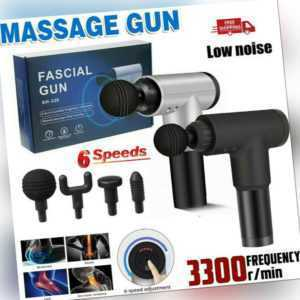 Electric Massage Gun Massagepistole Massager Muscle Massagegerät 4-Köpfe Neu