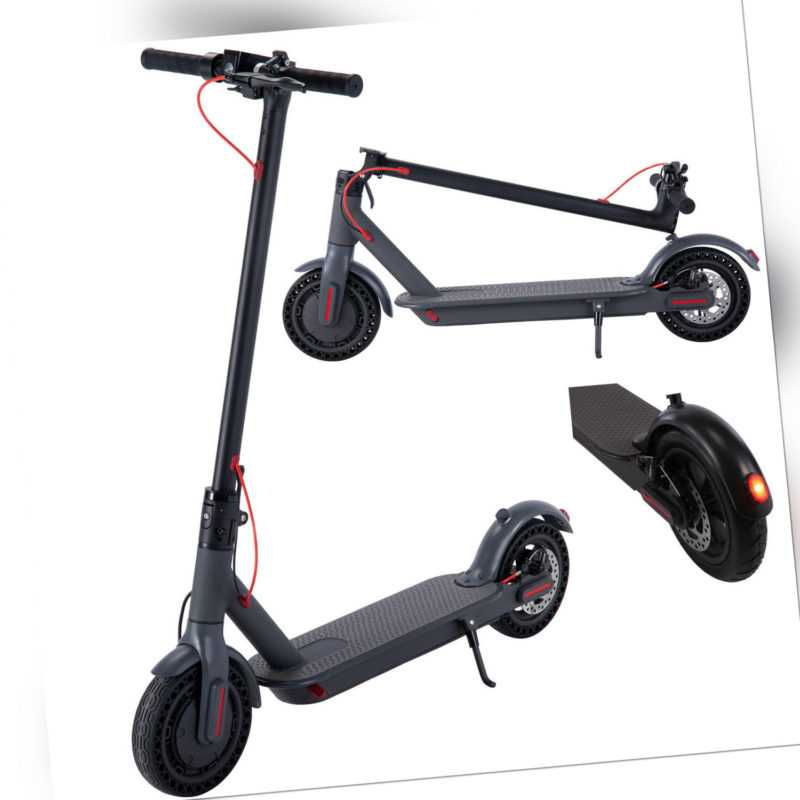 Elektroroller Schwarz 8,5 Elektro Scooter Bluetooth E-Roller Klappbar E-Scooter