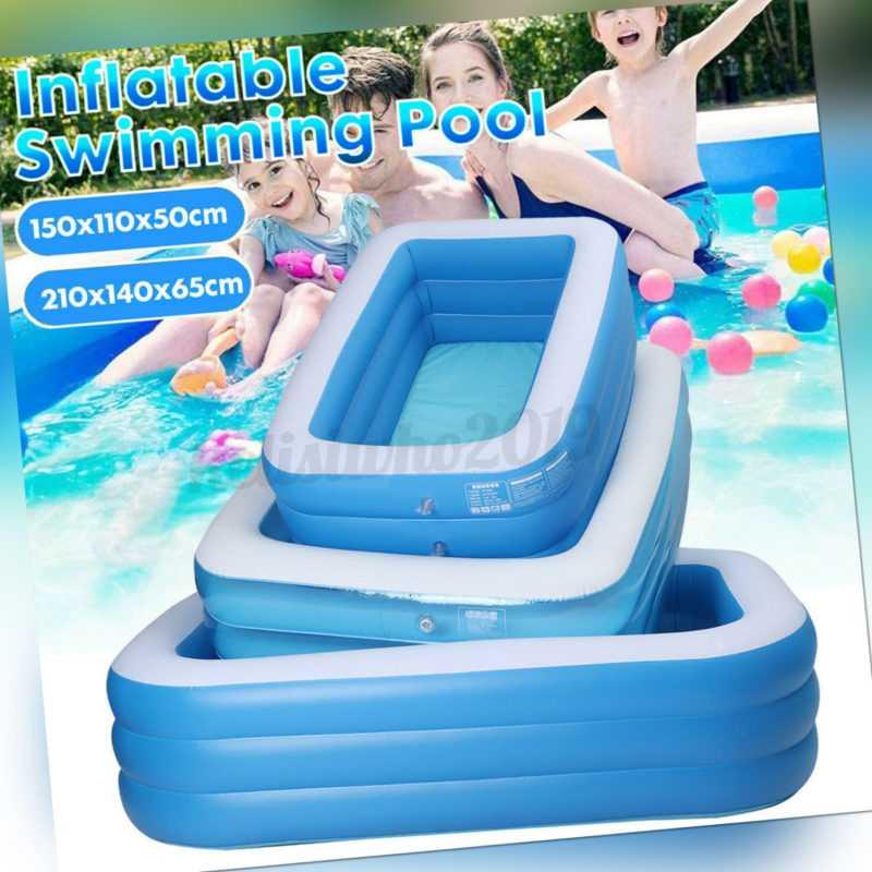 Aufblasbar Schwimmbecken 3 Schichten Planschbecken Swimmingpool Familien-Pool