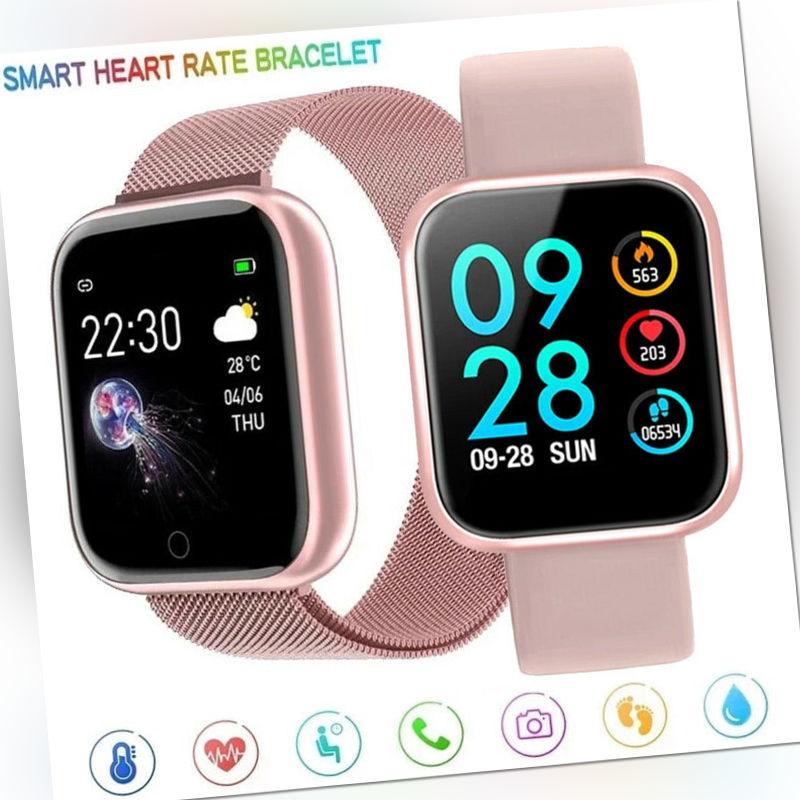 Bluetooth Smart watch Fitness Tracker Sport Uhr Puls Armband Wasserdicht Uhr