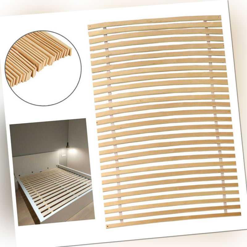 Lattenrost Stabiles Erlenholz Rollrost mit 28 Leisten Rolllattenrost 90 x 200CM