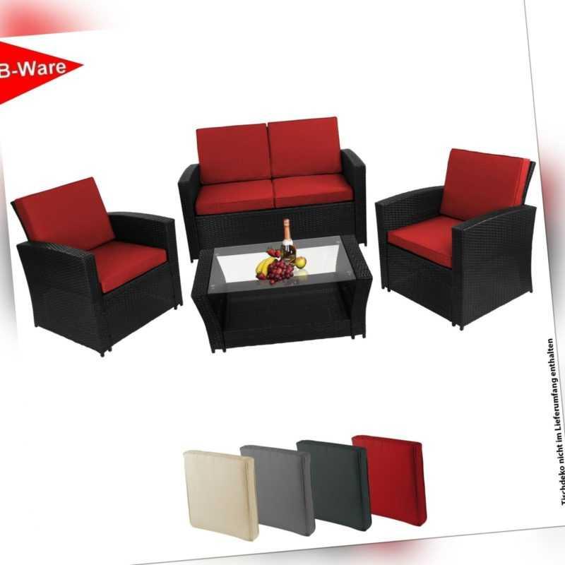 B-WARE * Polyrattan Sitzgruppe Lounge Sitzgruppe Balkon Terasse Garten [16026]