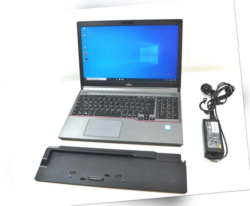 """Fujitsu Lifebook E756 15,6"""" Intel Core i7-6600U @ 2,60GHz 8GB RAM 256 SSD _NEU_"""
