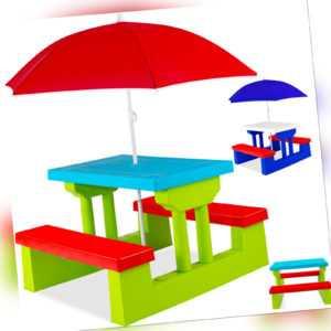 KESSER® Kindersitzgruppe Set Sitzgarnitur Kinder Kindermöbel Garten Tisch Bank