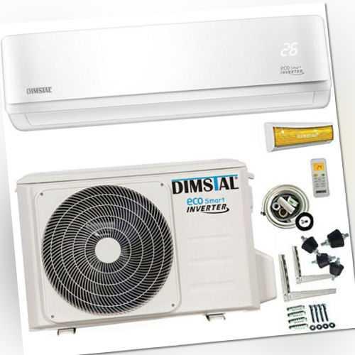 Split Klimaanlage A++ ECO Smart Inverter 12000btu/3,5 kW +3m Kupferleitung&Kabel