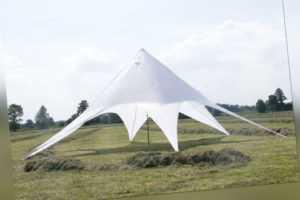 Partyzelt • Festzelt • Pavillon • Sternzelt  NEU 14m in weiß oder beige