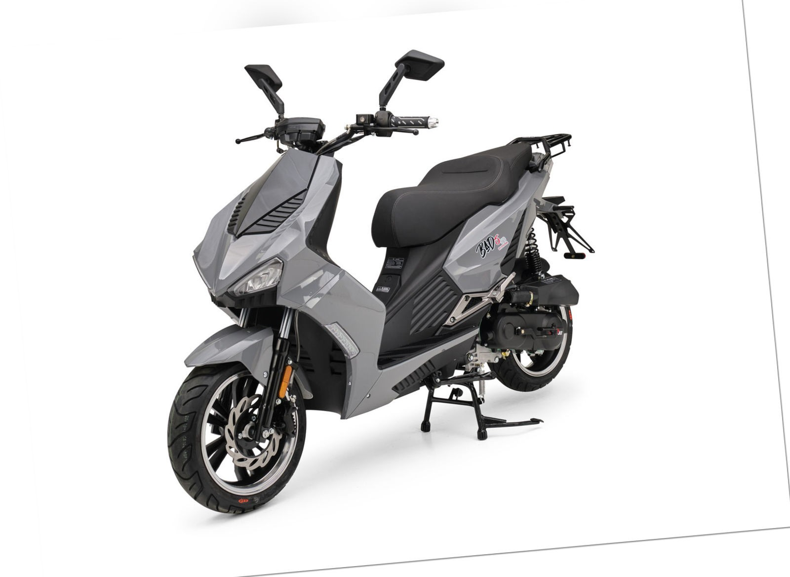 BAD S Grau 49cc Sport Motorroller Roller Moped