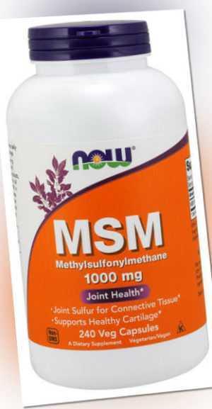Now Foods, MSM (Methylsulfonylmethane), 1000mg, 240 vegane Kapseln