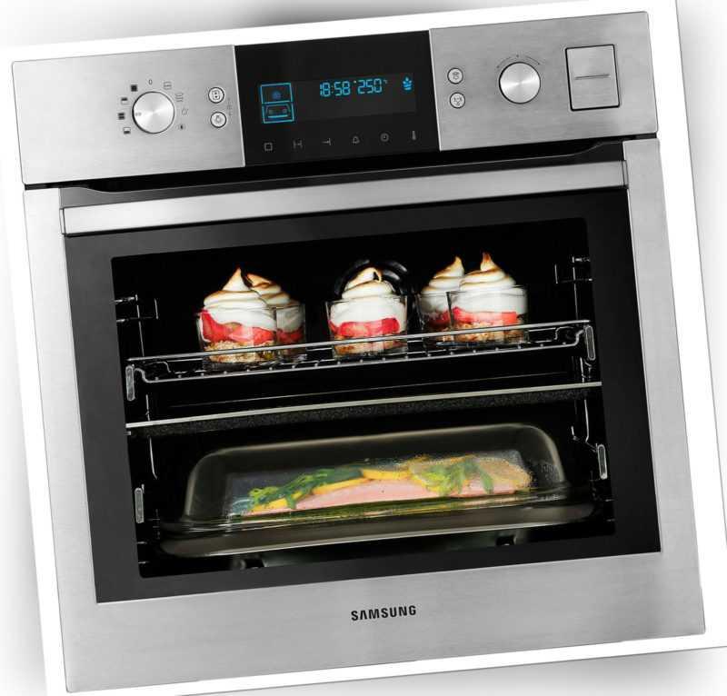 Dampfgarer BQ1VD Samsung Dampfbackofen Autark Einbau Backofen Herd Grill Dampf