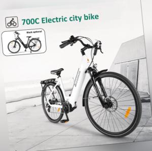Adult 700C Elektrofahrrad Ebike City Bike BAFANG 250W Motor 15Ah Batterie 8-Gang