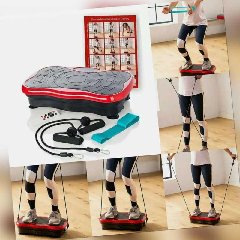 Vibrationsgerät Ultra Slim Heimtrainer Fitness Ganzkörper Vibrationsplatte + FB