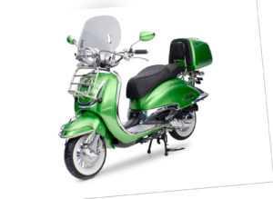 EasyCruiser Grün / Metallic 49ccm Retro Motorroller Roller ...