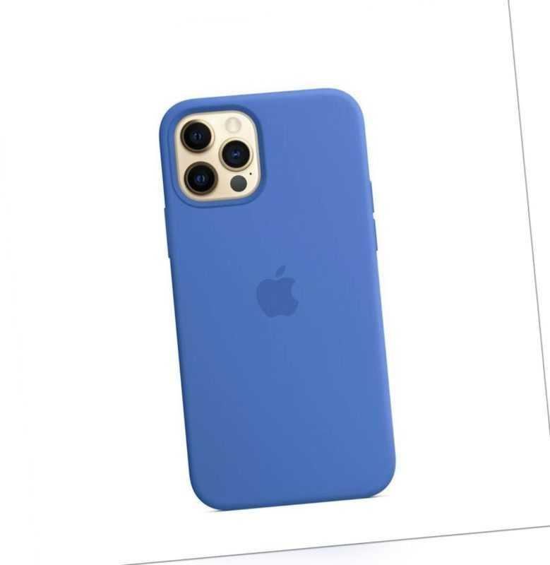 Original Apple iPhone 12/Pro MagSafe Silicone Case Capriblau MJYY3ZM/A *Neu*OVP
