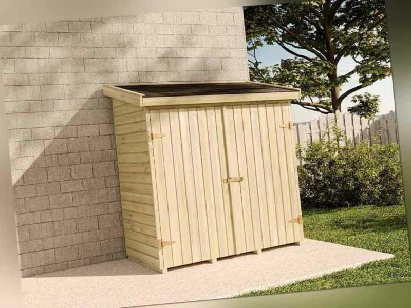 Geräteschuppen Kjell Gartenschrank Anbau Holz