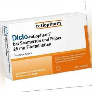 Diclo-ratiopharm bei Schmerzen und Fieber 25 mg Filmtabletten 20 St PZN: 1417004
