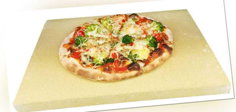 Schamotteplatte 400 x 300 x 40 mm  Pizzastein Backofenplatte Brotbackstein
