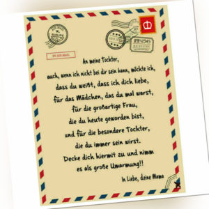 Briefe an meine Sohn Liebesdecke Druckdecke auf dem Bettgeschenk